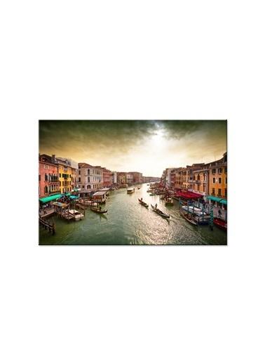 Arte Casero Şehir Kanvas Tablo 50x70 cm Renkli